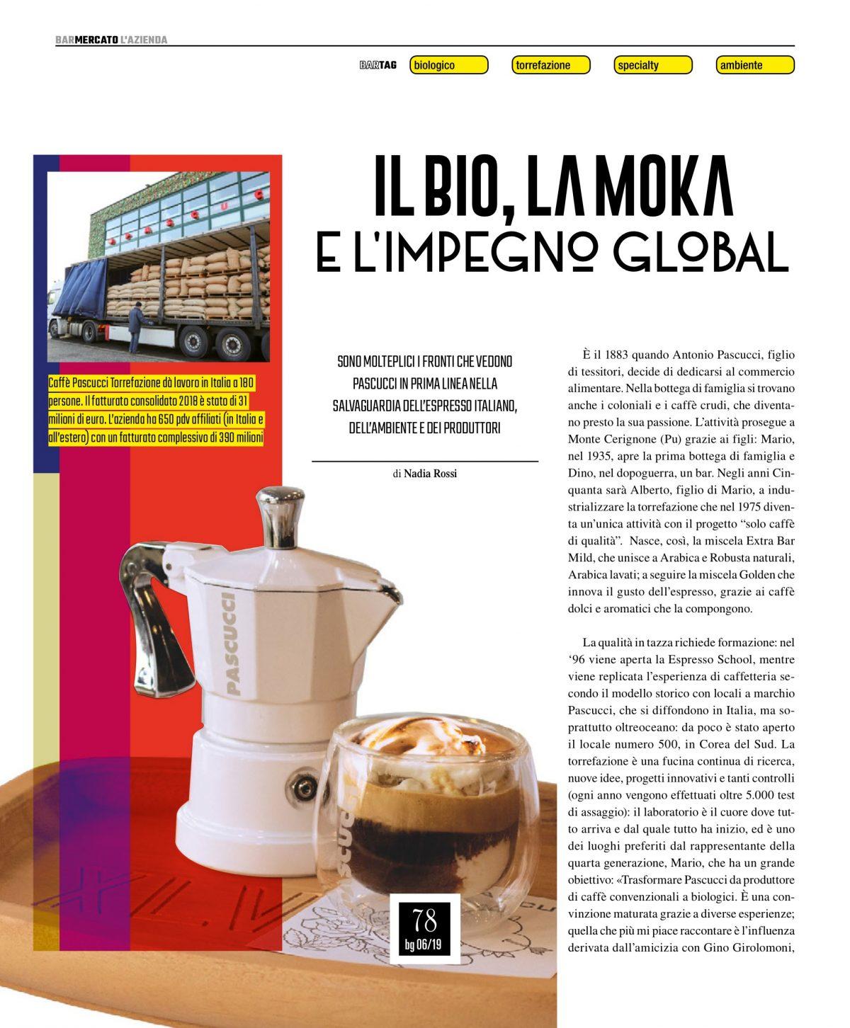 Caffè Pascucci Bargiornale Giugno 2019