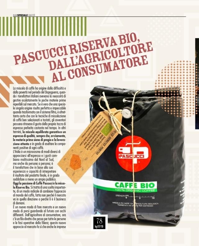 Caffè Pascucci Bargiornale luglio 2019