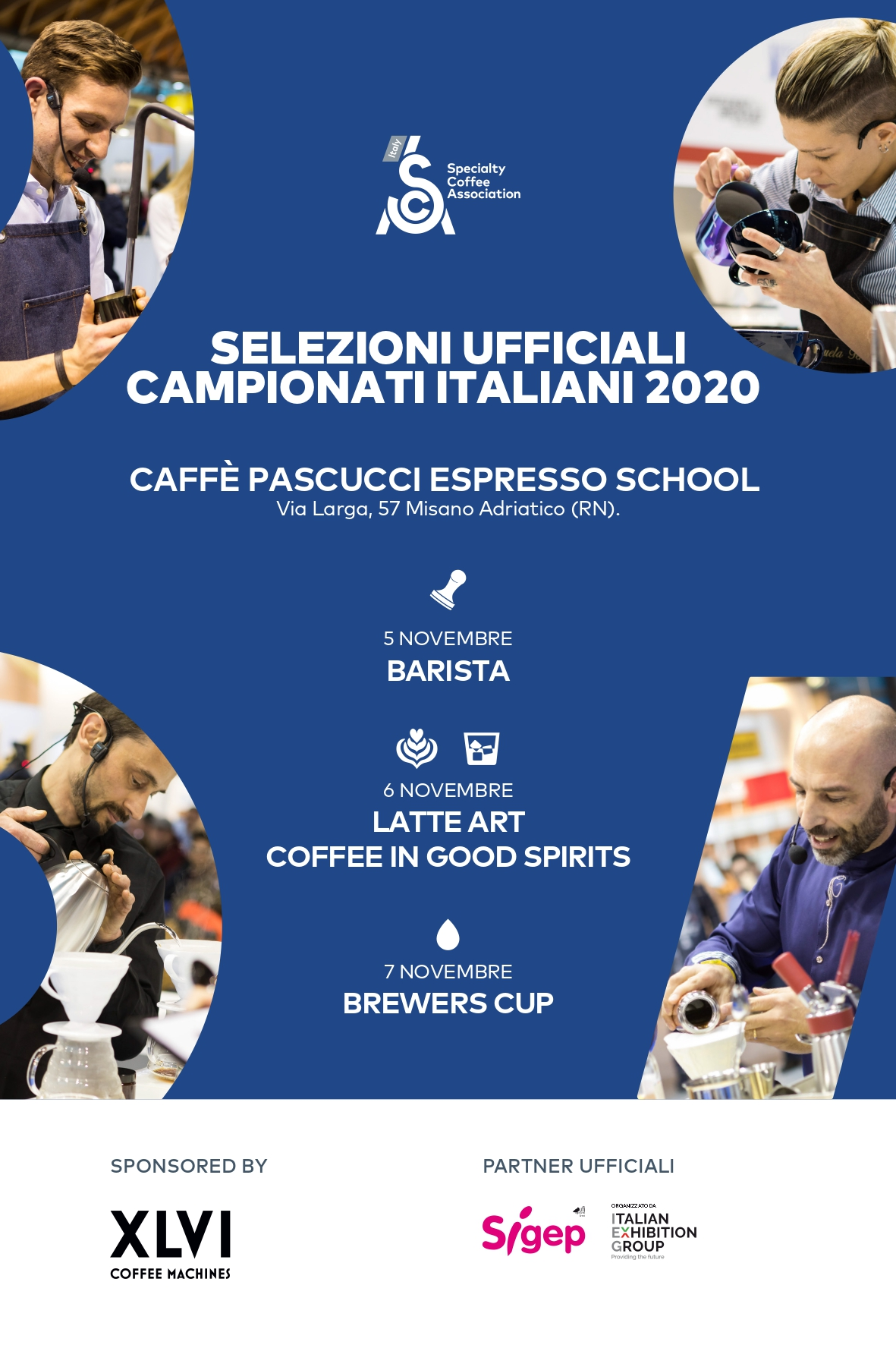 Caffè Pascucci SCA campionati italiani baristi 2020