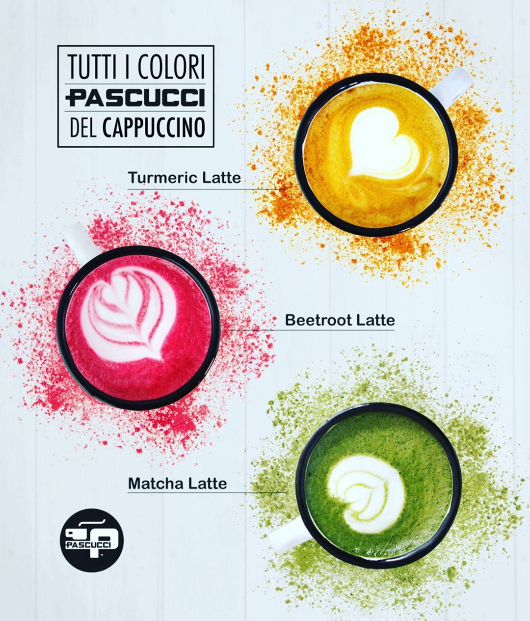 Colors of cappuccino