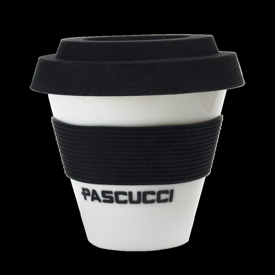 Caffè Pascucci 51130 tazza caffe asporto porcellana fascia nera