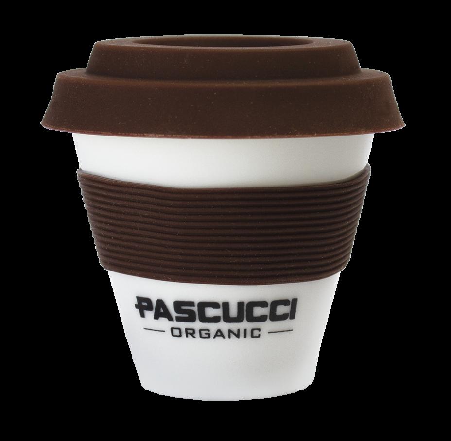 Caffè Pascucci 51132 caffe organic tazza asporto porcellana fascia marrone