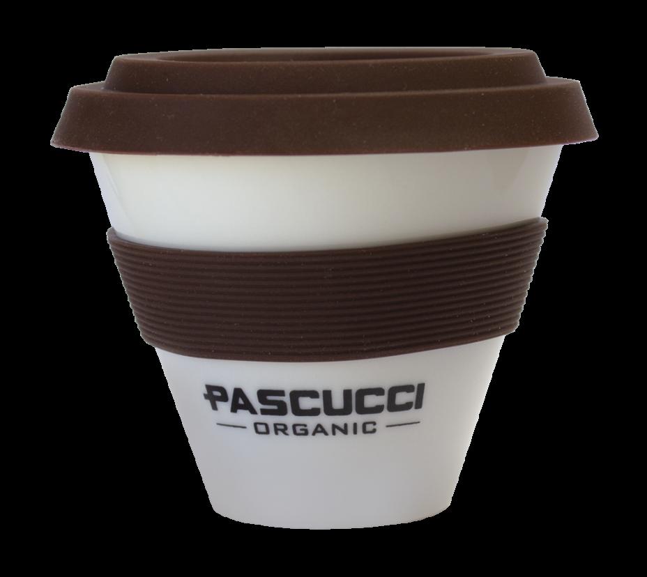 Caffè Pascucci 51137 tazza cappuccino organic asporto porcellana fascia marrone