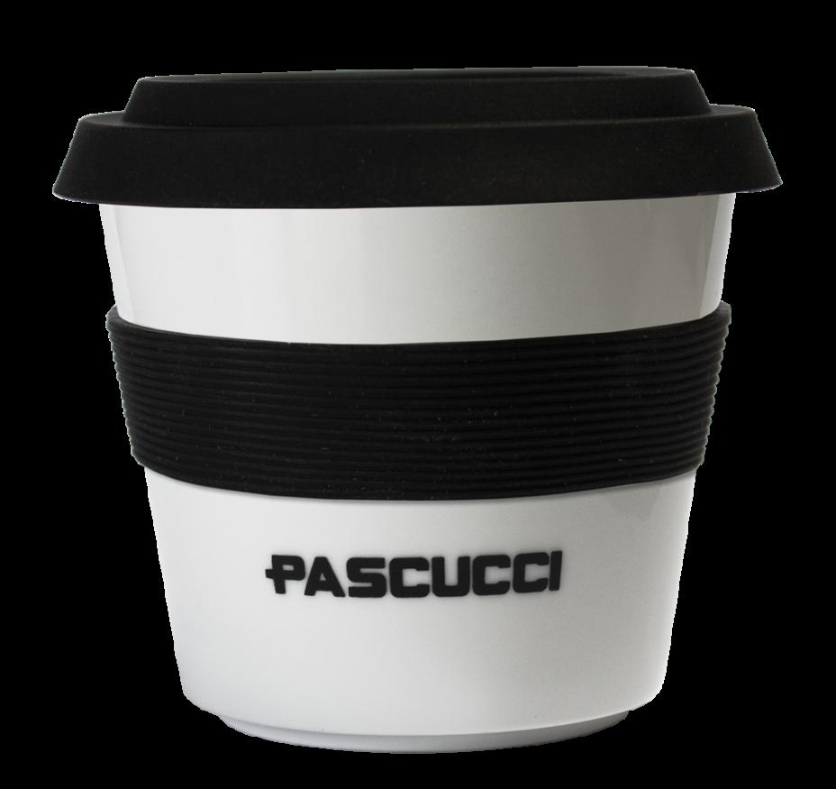 Caffè Pascucci 51139 tazza mug asporto porcellana fascia nera