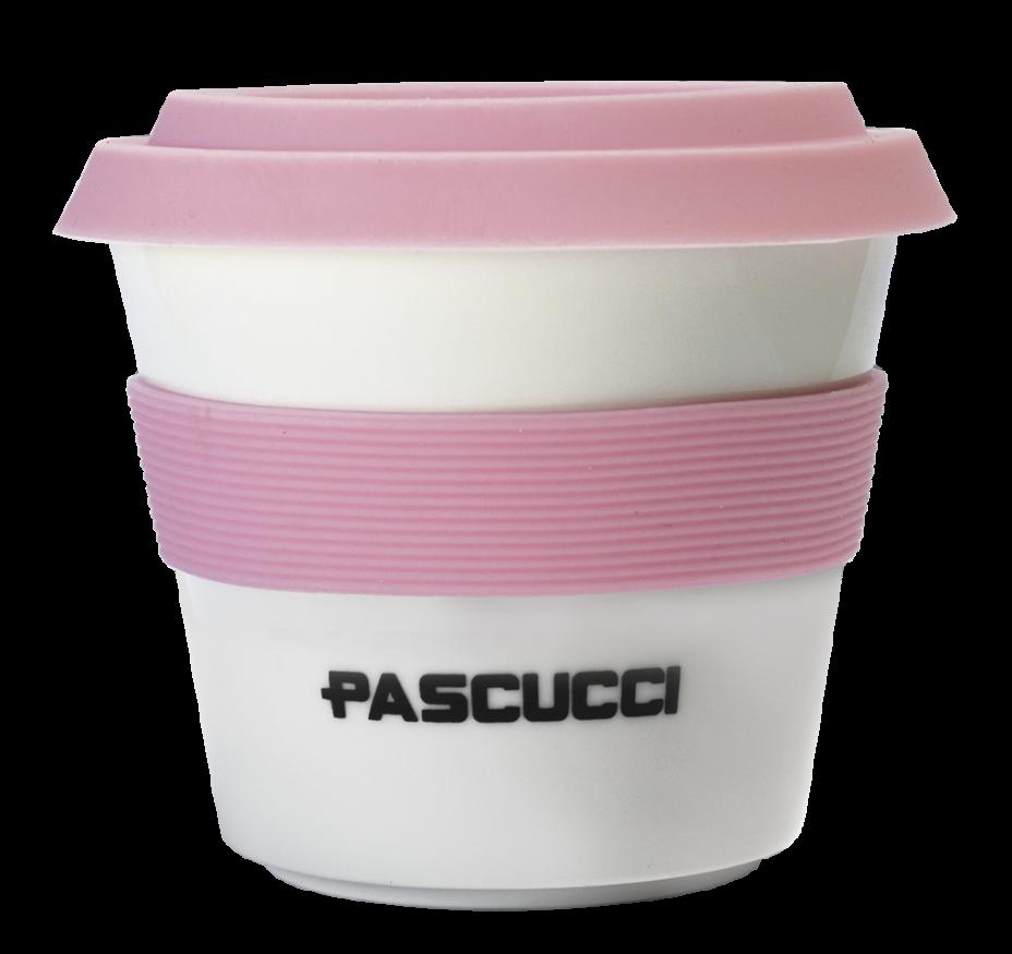 Caffè Pascucci 51140 tazzamug asporto porcellana fascia rosa